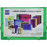 Plus Office D0301H - Carpeta proyecto con lomo 3 cm, color Verde, A4