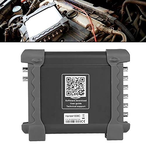 Oszilloskop 8 kanal,Hantek 1008C 8-Kanal-USB-Oszilloskop-Datenerfassungsgerät Auto-Oszilloskop-DAQ-Signalgenerator mit viel Zubehör und über 80 Arten von Kfz-Diagnosefunktionen,0-250KHz