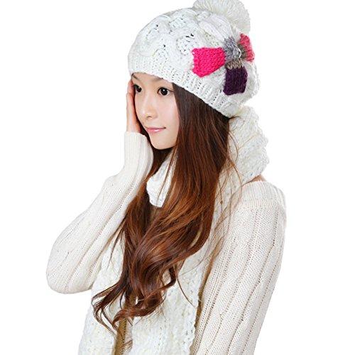 Chapeaux de dames coréen/ deux pièces/Chaude écharpe/Chapeau C