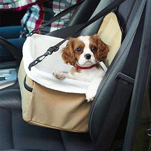 FOONEE Pet Booster Sitz Hund Booster Autositz Hunde Travel Carrier mit Festen Gurt Sicherheit Stabil für Look Out Perfekt für Kleine und mittelgroße Haustiere bis zu 20lbs Gelb (Pet-booster Träger)