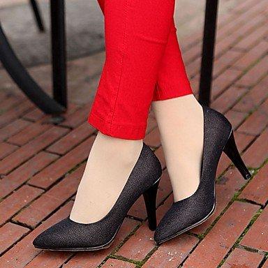 Moda Donna Sandali Sexy donna tacchi Primavera / Autunno / Inverno Novità sintetico brevetto / Cuoio / LeatheretteWedding / Ufficio & Carriera / Party & sera abito / Black