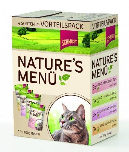 Schmusy Natures – Cibo per gatti multipack, 12 bustine da 100 g