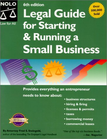 Legal Guide for Starting & Running a Small Business by Fred S. Steingold (2001-02-02)