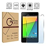 FINDING CASE Google Nexus 7 2nd Gen 2013 Tablet - Premium Tempered Glass Screen Protector Film Cover 9H Hardness Anti-Scratch Bubble-Free Ultra Clear