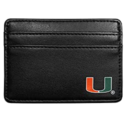 NCAA Miami Hurricanes Leather Weekend Wallet, Black