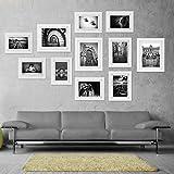 Voilamart Bilderrahmen Set 11er Set Weiß Fotorahmen Poster Foto Collage Hausdeko