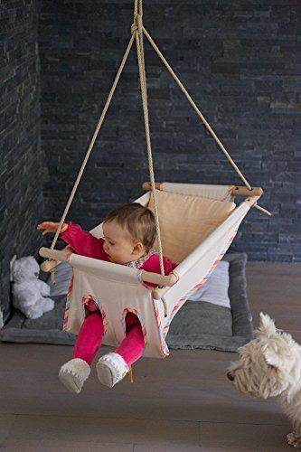 Hängebettchen aus Baumwolle von Petite planète Zébul'hamac Babybettchen Hängeschaukel Hängebett