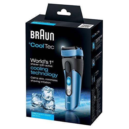 Braun CoolTec Elektrischer Rasierer CT4s, blau - 5