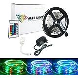 ALED LIGHT® Striscia LED 5M RGB 300 LED 3528 SMD LED Strip Con 2A 12V Adattatore di ...