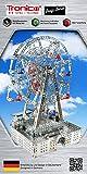 Solar Metallbaukasten, Riesenrad mit Solarzellen-Antrieb, 1042 Teile, Tronico, Baukasten inklusive Werkzeug, Metallbaukasten mit Motor, geeignet ab 12 Jahren, Solarbaukasten, Tronico