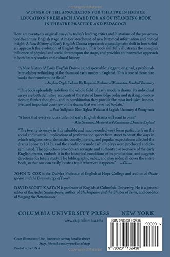 A New History of Early English Drama (World Bank Comparative Macroeconomic)