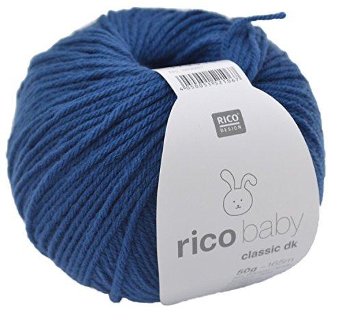 Rico Design rico baby classic dk Strick- und Häkelgarn Babywolle jeans -