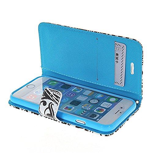 MOONCASE Pattern Series Housse de Protection Coque en Cuir Portefeuille Étui à rabat Case pour Apple iPhone 6 (4.7 inch) A16323