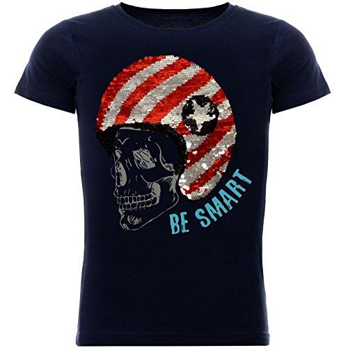 BEZLIT Jungen T-Shirt mit Coolem Wende Pailletten 22027, Farbe:Blau, Größe:104