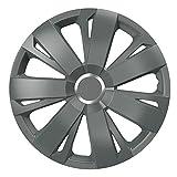 16 Zoll Radzierblenden ENERGY RC GRAPHIT (Grau mit Chromring). Radkappen passend für fast alle VW Volkswagen wie z.B. Polo 9N!