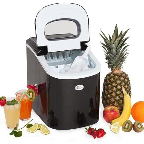 TecTake - Máquina para hacer cubitos de hielo, color negro
