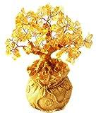 Itian Albero in quarzo citrino giallo con base a forma di sacco portafortuna - Itian - amazon.it