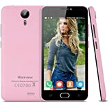 Blackview BV2000 Lte 4G - Smartphone Libre Android 5.0'' (Ips Hd 1280x720P, 8Gb, Dual Sim, 1Gb Ram, Multi-Idioma, Wifi Gps Bluetooth GSM), Rosado