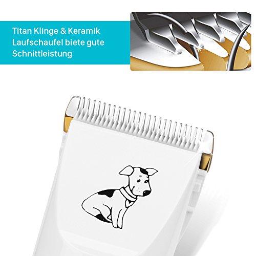 GHB Tierhaarschneider Schermaschine Tierhaarschneidemaschine Hunde Katzen Timmer 4 Aufsätze mit 2x Akku Wiederaufladbaren Haustier Rasierer - 4