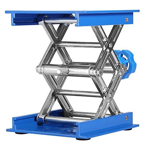Labor Hebebühne, Aluminiumoxid Lab-Lift Hebebühne Labor Scissor Jack, 100 x 100mm Labor Hebeplattform, Hubhöhe 45 x 158mm