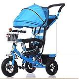 MEI XU Passeggino Bici per bambini pieghevole per bambini Passeggini per carrozzine (colore : Blu)