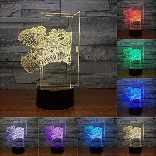 Nachtlicht-vision Lampe Dinosaurier 3d Nachtlampe Tisch Lampe 7 Farbe 3d Licht Kind Farbe Kinder Geschenklampe Ändern Hot Sales Vision Lighting Sales