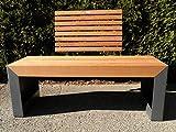 Terrassenbank in Holz-Metall Kombination