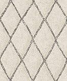 Vliestapete Rauten Muster creme beige braun Struktur Tapete BN 219691