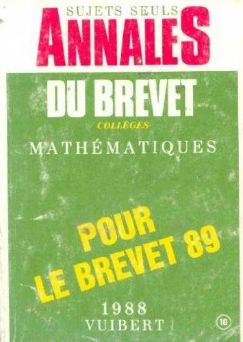 Annales du brevet collèges Mathématique 1988