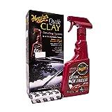Meguiar's Trattamento di Pulizia Auto, Prodotto Spray per Detailing Auto, Detailer Professionale per Moto, Kit per Pulizia Veloce, Rimuove Sporco, Effetto Antigraffio,1 Flacone Spray + Panno