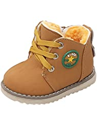 Zapatos de invierno para niños - Juleya niños niñas Windproof Nieve Boots Botas Calientes botas de piel para niños