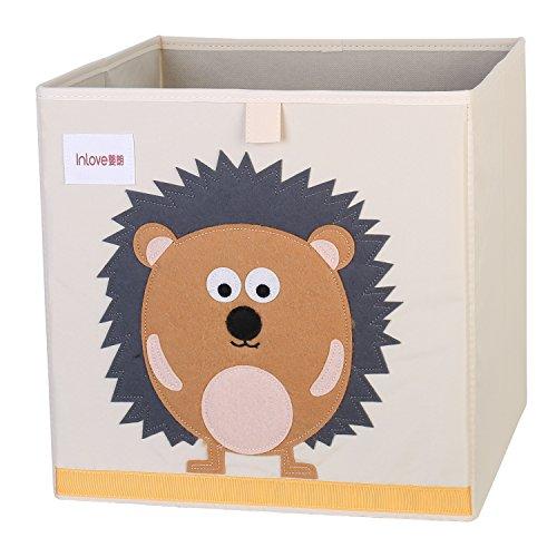 Scatola pieghevole organizer giocattoli in cartone pieghevole a forma cubo per bambini di ellemoi (istrice)