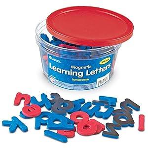Learning Resources- Letras didácticas magnéticas de Espuma Blanda minúsculas, Color (LER6297)