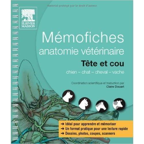 Mémofiches anatomie vétérinaire - Tête et cou de Saunders ,Claire Douart ( 20 mars 2013 )