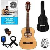 Stretton Payne Guitare acoustique pour enfants avec cordes en nylon Naturel Taille 1/2 86 cm