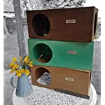 Hop Inn Rabbit Hide House (Sage) LARGE Indoor or Outdoor, Cat Hide, for Big Rabbits and Cats too, READY MADE and Built… 9