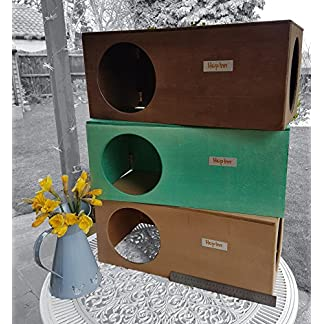Hop Inn Rabbit Hide House (Sage) LARGE Indoor or Outdoor, Cat Hide, for Big Rabbits and Cats too, READY MADE and Built… 22