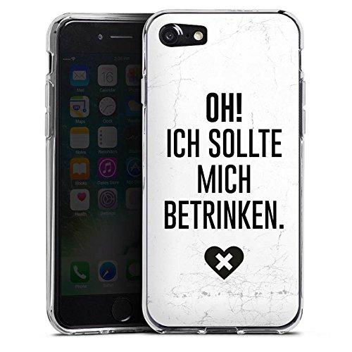 Apple iPhone X Silikon Hülle Case Schutzhülle Feiern Party Leben Silikon Case transparent
