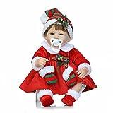 Silicone Reborn Baby Doll 40CM Reality Baby dira que les nouveau-nés envoient des cadeaux de vacances aux filles pour les enfants de plus de 3 ans