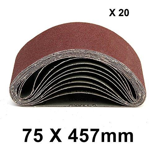 MultiWare Bandes Abrasives 75*457mm Grain 40 60 80 120