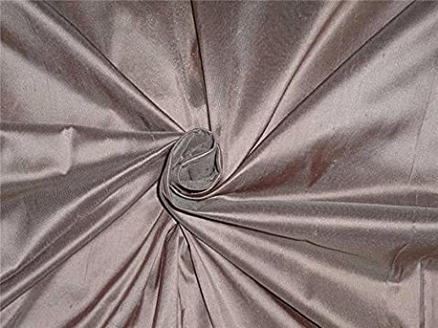 100% Seide Dupionseide Stoff 137,2cm breit, Dusty Mauve Farbe von der Yard