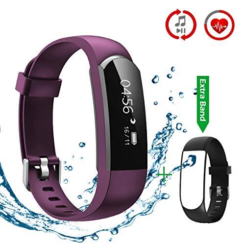 CHEREEKI Pulsera Inteligente, Fitness Tracker Monitor de Pulso Cardiaco Deporte Actividad Tracker
