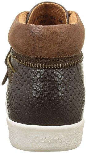 Kickers Damen Happyzip Low-top Brown (metallo Marrone Scuro)