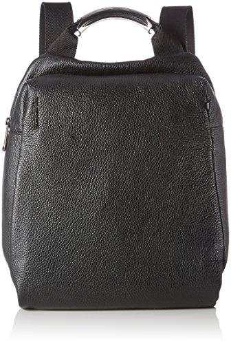 Mandarina Duck Mellow Leather Tracolla, Sacs portés épaule femme, Noir (Nero), 7x27x27 cm (B x H T)
