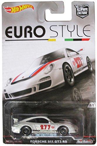 HOT WHEELS EURO STYLE WHITE PORSCHE 911 GT3 RS 2/5