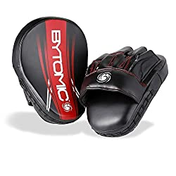 Bytomic Axis Curved Focus Mitts Pads - Blackred Boxing, Sparring