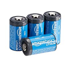 AmazonBasics Lithium CR2 3V Batteries, 4-Pack