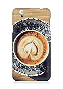 Amez designer printed 3d premium high quality back case cover for YU Yureka (Heart Coffee Cappuccino Cup Light Table)