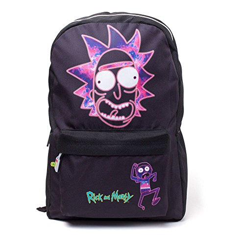 Rick and Morty Mochila de a Diario, Negro Negro - BIO-BP183874RMT