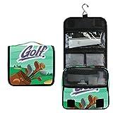 DOSHINE - Trousse da golf per articoli da toeletta, grande borsa per trucchi e cosmetici, per donne e ragazze